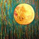 Hampton moon – Acrylic on Canvas –  45in x 58in