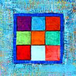 Squares1 – Encaustic on Linen – 14in x 20in
