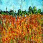 Field of Poppies - Acrylic on Canvas – 34in x 38in