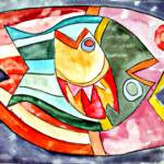 Fish in fish – Watercolor – 11in x 15in