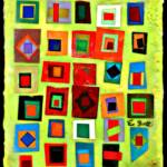 Flags – Encaustic Collage – 9in x 13in
