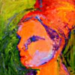 Girl with red hear – Acrylic on Canvas – 18in x 24in