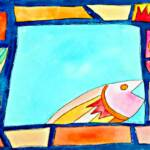 Lone fish – Watercolor - 11in x 15in