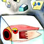 Pesce in Cubo # 1 – Water Color – 12in x 15in